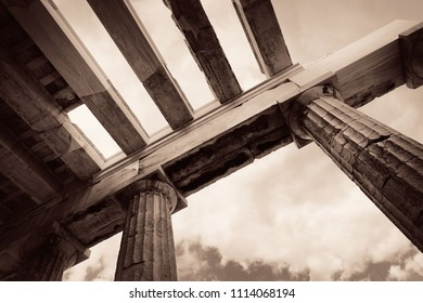 Acropolis historical ruins in Athens, Greece.