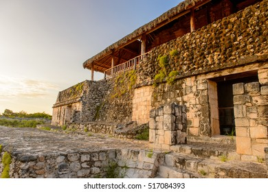 Acropolis, the largest structure at Ek' Balam and it contains the tomb of Ukit Kan Le'k Tok', a ruler. It is a Yucatec-Maya archaeological site,  Temozon, Yucatan, Mexico.
