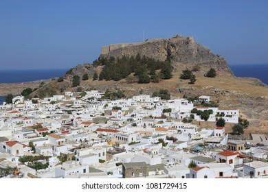 Acropolis of Lindos 6th century BC, Rhodes