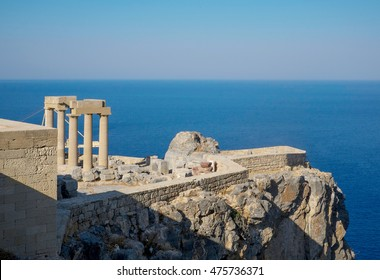Acropolis of Lindos in Rhodes, Greece
