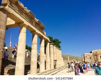 Acropolis of Lindos/Lindos village,Rhodes island 15.05.2019