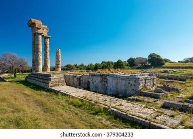 Acropolis of Rhodes, temple of Apollo