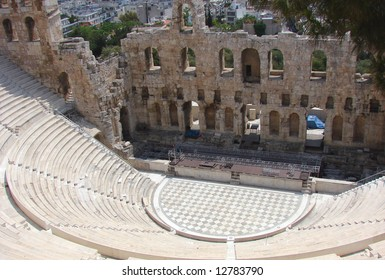 Acropolis theatre in Athens.
