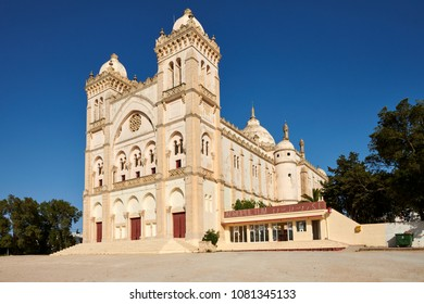 Acropolium in Garthage built in the 19th century as a catholic church, now hosts the building concerts and events,  Tunis City, Tunisia, Africa. Captured on April 16th 2018.