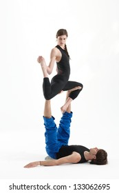 Acro-yoga  for two
