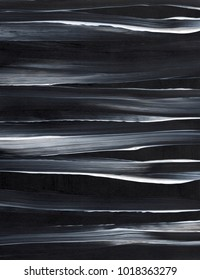 Acrylic background painting, black and white abstract backdrop
