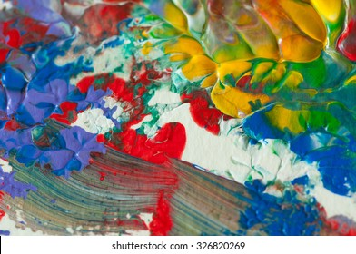 Acrylic background texture art painting by hand painted acrylic color on paper