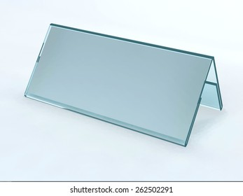Acrylic card holder for events isolated transparent object with white background