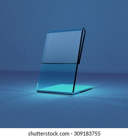 Acrylic card holder for events transparent object