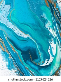 Acrylic Paint Pouring Background. Abstract art. Acrylic pouring technique. Abstract background.