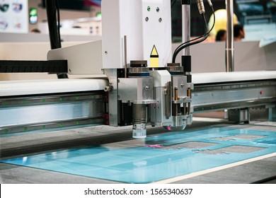 Acrylic sheet laser cutting machine.