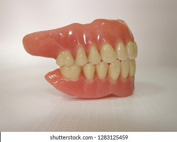 Acrylic, upper and lower dental prostheses