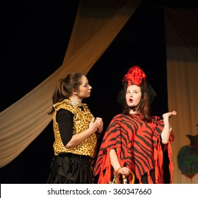 Act play performance in theater