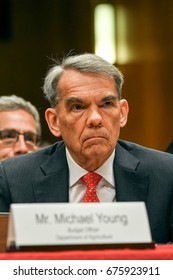 Acting Deputy Secretary of Agriculture Michael Young listens to questions during hering at Subcommittee on Agriculture and Rural Development on FY 2018 budget requests in Washington DC. June 13, 2017