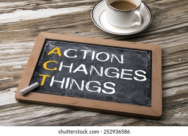 action changes things on blackboard