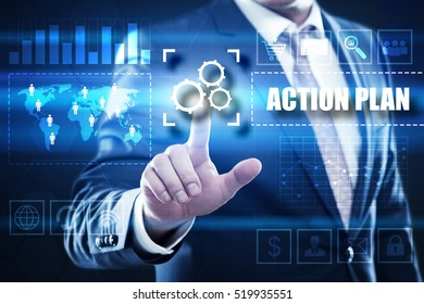action plan business concept.