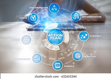 Action plan. Planning concept. Business strategy.
