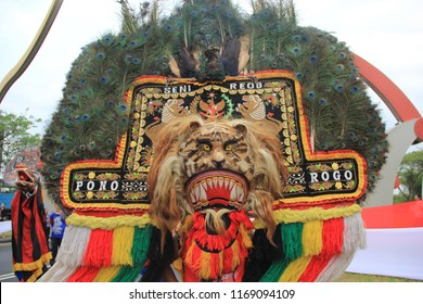 Reog ponorogo images stock photos vectors shutterstock the action of the reog ponorogo which is an action at the event citraland fest surabaya thecheapjerseys Gallery