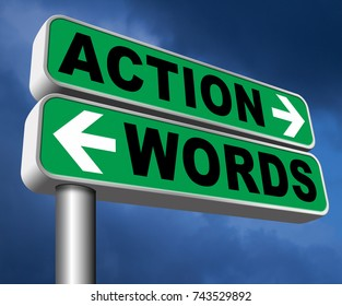 action words the time to act is now or never mister big mouth last and only chance 3D, illustration