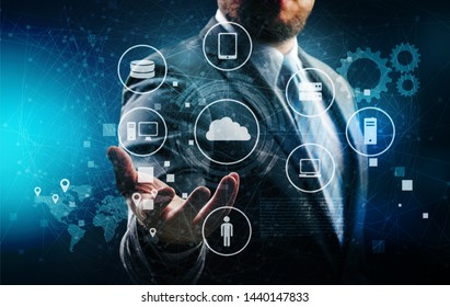 Activate analytic app backbone big business business man
