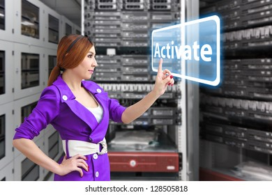 Activate button in server room