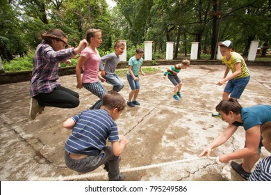 Active games at summer camp