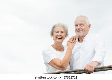 Active and happy senior couple