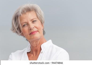 Active and happy senior woman