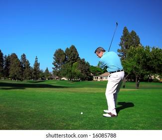Active Senior Golfer