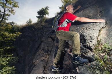 An Active Senior Hiking