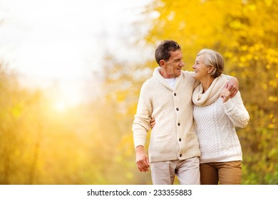 Active seniors having fun and relax in nature