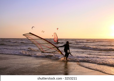 Active sport on north sea