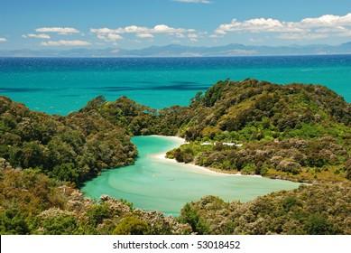 Active vacation in Abel Tasman national park, New Zealand