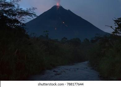 Active volcano Arenal in Costa Rica