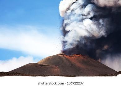 active volcano Etna