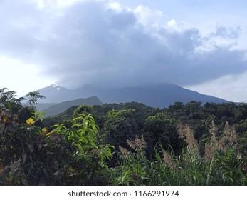 Active volcano on Sakurajima Island, Japan