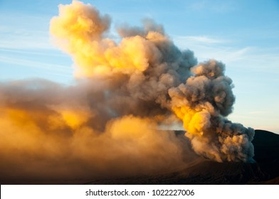 Active Volcano Smoke