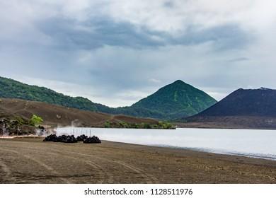 Active volcano Tavuruvur  near Rabaul, on the island of New Britain,Papua New Guinea