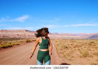 Active Woman in the Desert
