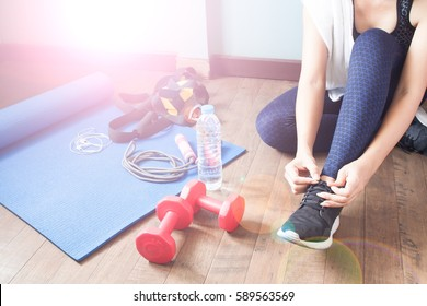 Active woman in sport fitness, Healthy lifestyle concept