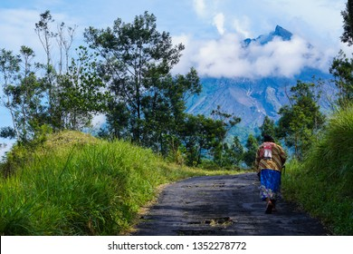 Activities of residents around the slopes of Mount Merapi