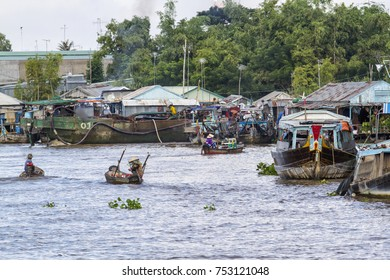 activity on the Mekong River in the neighborhood of Chau Doc