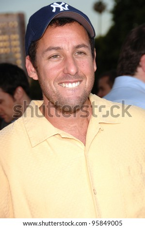 "Actor ADAM SANDLER at the Los Angeles premiere of his new movie ""Click"". June 14, 2006  Los Angeles, CA  2006 Paul Smith / Featureflash"