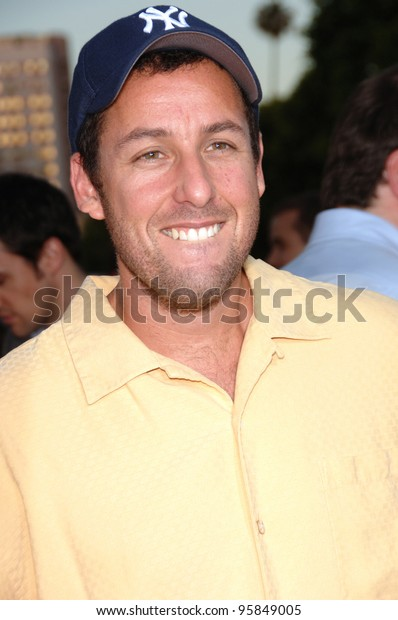 """Actor ADAM SANDLER at the Los Angeles premiere of his new movie """"Click"""". June 14, 2006  Los Angeles, CA  2006 Paul Smith / Featureflash"""