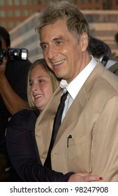 Actor AL PACINO & daughter JULIE at the Los Angeles premiere of his new movie Simone. 13AUG2002.   Paul Smith / Featureflash