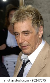 Actor AL PACINO at the Los Angeles premiere of his new movie Simone. 13AUG2002.   Paul Smith / Featureflash