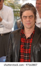 Actor BENICIO DEL TORO at the 58th Annual Film Festival de Cannes to promote his movie Sin City. May 18, 2005 Cannes, France.  2005 Paul Smith / Featureflash