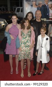 Actor BRUCE WILLIS & actress girlfriend BROOKE BURNS & his children including his youngest TALLULAH BELLE WILLS at the world premiere, in Hollywood, of his new movie The Whole Ten Yards. April 7, 2004