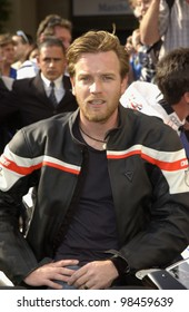 Actor EWAN McGREGOR at photocall at the Cannes Film Festival for his new documentary movie Faster, which follows the action on the MOTO Grand Prix circuit. 16MAY2003