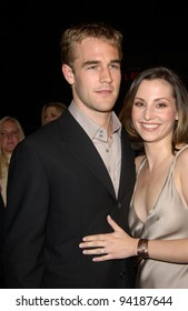 Actor JAMES VAN DER BEEK & girlfriend actress HEATHER  McCOMB at the Los Angeles premiere of his new movie The Rules of Attraction. 03OCT2002.   Paul Smith / Featureflash